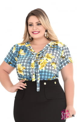 Kit de 3 Blusas Baby Look Plus Size