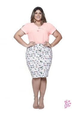 Kit de 3 Blusas Plus Size