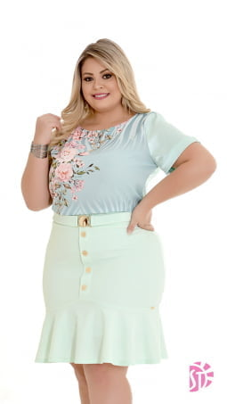 Kit de 2 Saias Plus Size