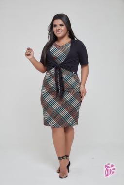 Kit de 3 Vestidos Plus Size
