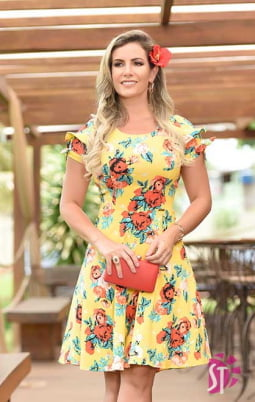 VESTIDO EVASÊ SOL DA TERRA 11122